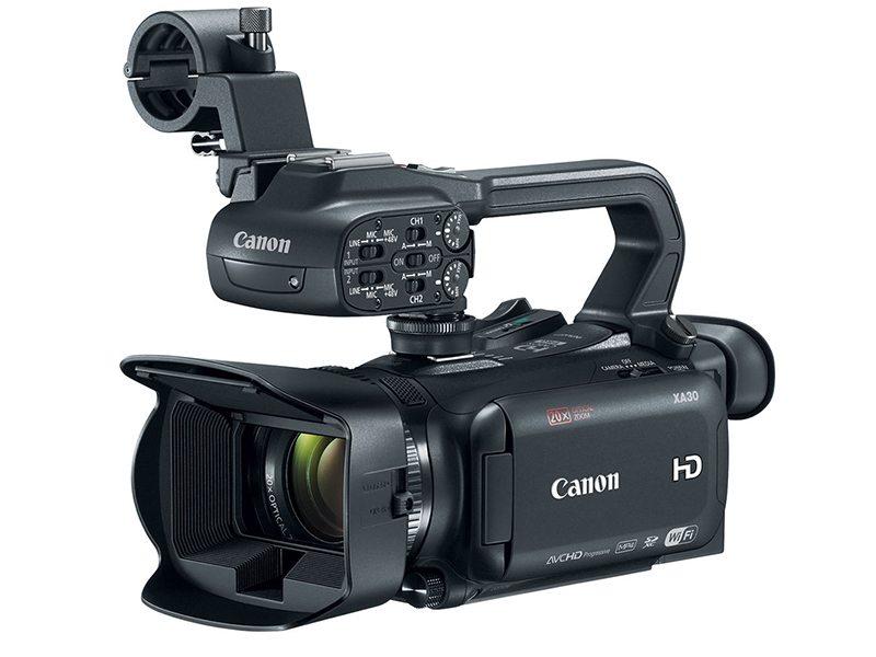 canon camcorder xa30 komplettes video film equipment mieten. Black Bedroom Furniture Sets. Home Design Ideas